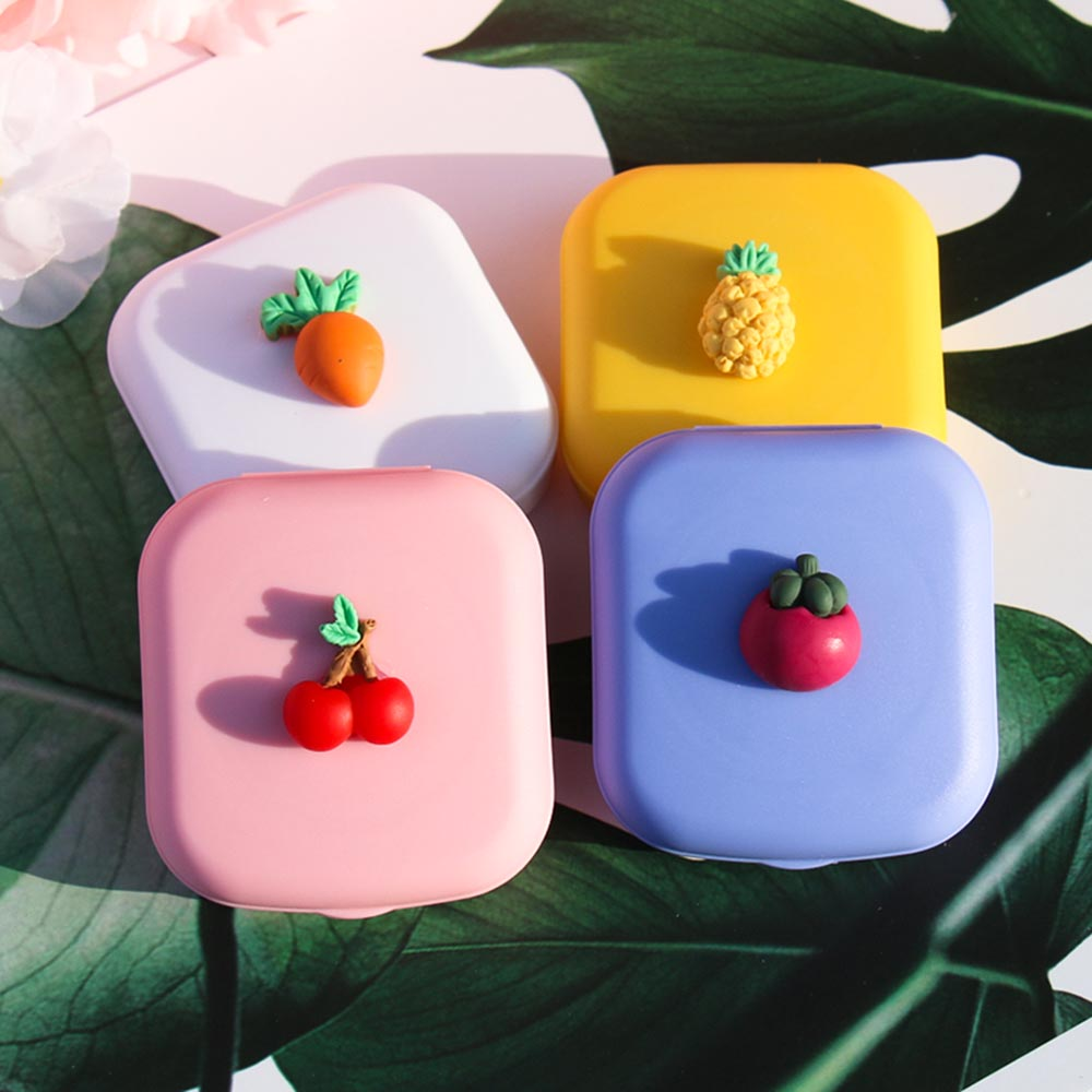 2020 Fruit Glasses Cosmetic Contact Lenses Box Contact Lens Case For Eyes Travel Kit Holder Container Travel Accessaries