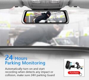 Image 4 - HGDO 10 אינץ רכב DVR Rearview מראה דאש מצלמת מלא HD מגע מסך רכב מצלמה 1080P dvrs עדשה כפולה וידאו מקליט autoregister