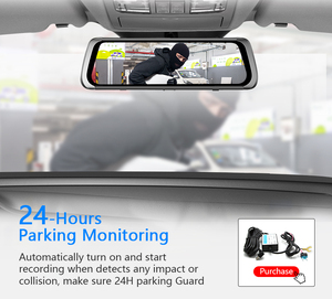 Image 4 - HGDO 10 inch Car DVR  Rearview Mirror Dash cam Full HD Touch screen car camera 1080P dvrs Dual lens video Recorder autoregister