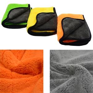 Image 5 - 3PCS 800GSM 45cmx38cm Super Thick Plush Microfiber Car Cleaning Cloths Car Care Microfibre Wax Polishing Detailing Towels Soft