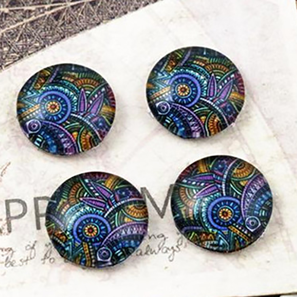 Hot Sale 20pcs 12mm Handmade Classical Pattern Style Photo Glass Cabochons  (E2-52)