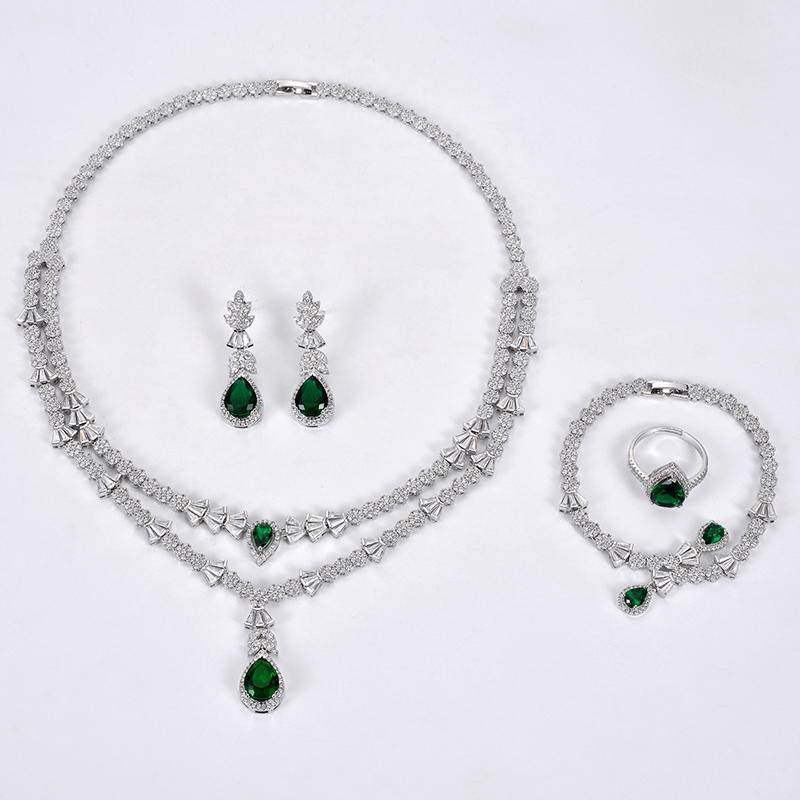 Image 5 - Jewelry Set HADIYANA Fashion Gorgeous Necklace Earrings Ring  Bracelet Set For Women Party Gift Wedding CNY0055 Femme JewelryJewelry  Sets
