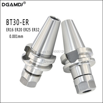 1PCS BT30 ER16 ER20 ER25 ER32 BT30 60L 70L PRECISION 0.001 Collet Chuck Holder Toolholder CNC Milling&Lathe for Spindle BT30 new 1pcs c3 4 er32 1 38l collet chuck holder cnc milling and 1pcs wrench