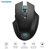 VisTsing 2400DPI Wireless Gaming Mouse 2.4GHz Ergonomic Gamer Mouse with Professional Chip for PC Win2000/XP/7/8/10