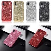 Glitter Bling Pailletten Telefon Fall Für iPhone XS Max 7 8 6 s 6 s Plus X XR Mode Bunte glänzende Sparkly Abdeckung Gel Coque Shell