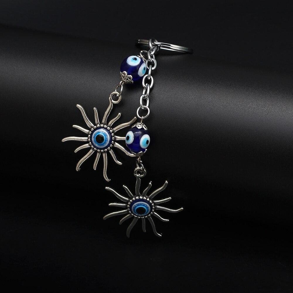 Sun Keychain Keyring Evil Eye Bead Lucky Gift Դեկորատիվ - Նորաձև զարդեր - Լուսանկար 6