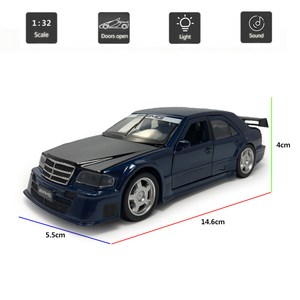 Image 2 - Hommat mercedes c class amg 1:32 escala modelos carro veículo liga diecast brinquedo modelo de carro crianças presente brinquedos para crianças som luz