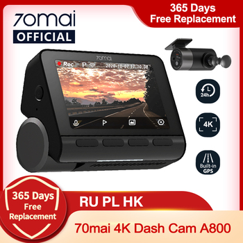 70mai A800 Dash Cam 4K Built-in GPS ADAS Real 4K Camera UHD Cinema-quality Image 24H Parking SONY IMX415 140FOV image