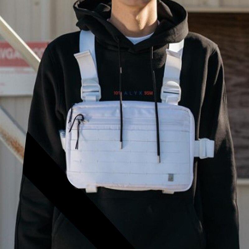 Men Tactical Chest Bag Streetwear Functional Chest Rig Bags Fashion Multifunction Cool Vest Hip Hop Bag Chest Pack Kanye West