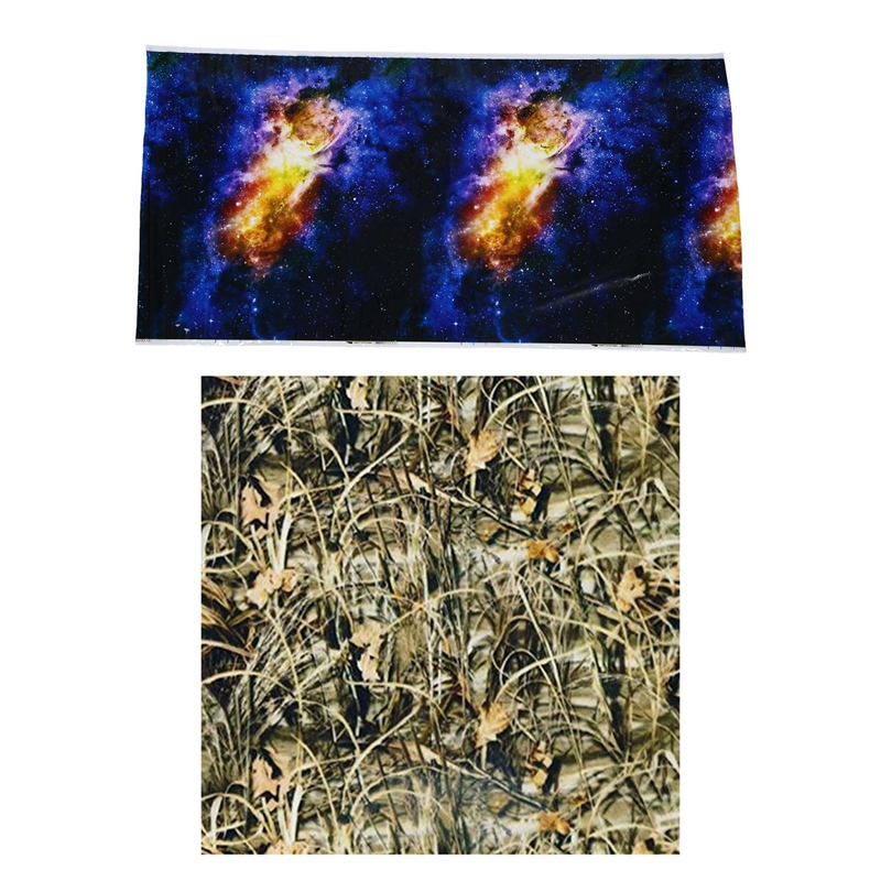 HOT-2 Pcs 1 Meter Hydrographic Film Water Transfer Printing Hydro Dipping , Star Universe & Reeds Camo 2