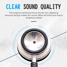 Professional Heart Lung Cardiology Stethoscope Medical Dual Head Doctor Stethoscope Doctor Medical Equipment Device Estetoscopio