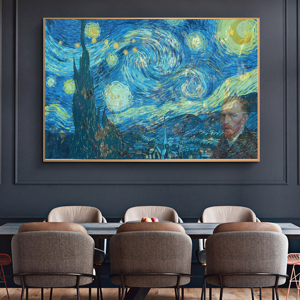 Van Gogh Creative Painting Collect The Starry Night Picture Home Decor Wall Art Print And Poster On Canvas Impressionist Cuadros