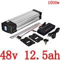 Аккумулятор для электрического велосипеда 1000 Вт  48 В  8 А  10 А  12 А  12 А  13 А  15 А  комплект литий-ионных батарей с зарядным устройством 2A