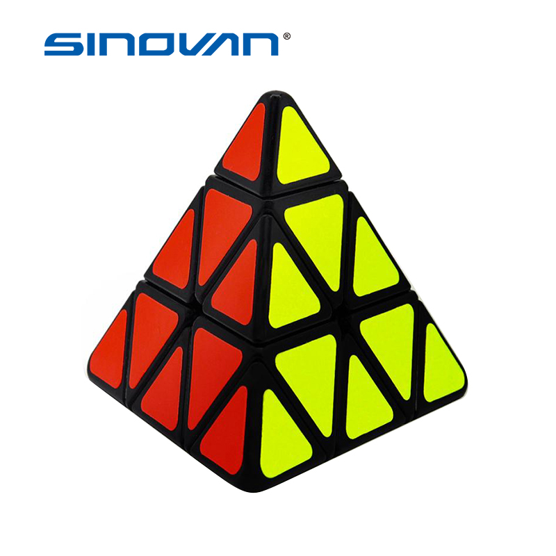 Speed Cubes Sticker Cubo Less Pyramid Magic Cubes Puzzle Toys For Adults Learning Magical Puzzles Toys For Children