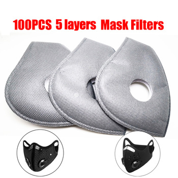 10-100 PCS 5 Layer PM2.5 Filter Disposable Paper Anti Haze Mouth Mask Anti Dust Mask Activated Carbon Filter Paper Health Care