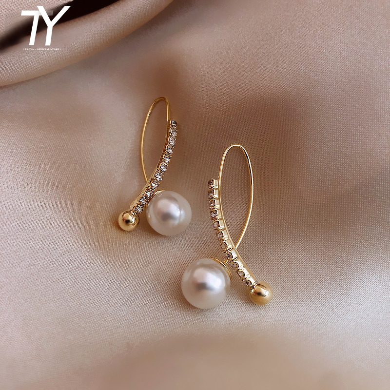 2020 New Classic Celebrity Style Pearl Earrings South Korean Women S Jewelry Temperament European And American Fashion Earrings Special Discount 49e8b Cicig