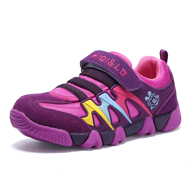 Купить с кэшбэком Kids Sneakers Boys Children Sports Shoes Casual Boy Sneakers Kids Shoes for Children Girls Outdoor Trainers DWA53