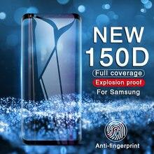 โค้งกระจกนิรภัยป้องกันการระเบิดสำหรับ Samsung Galaxy S9 S8 Plus หมายเหตุ 8 9 ป้องกันหน้าจอบน S7 S6 ป้องกันฟิล์ม