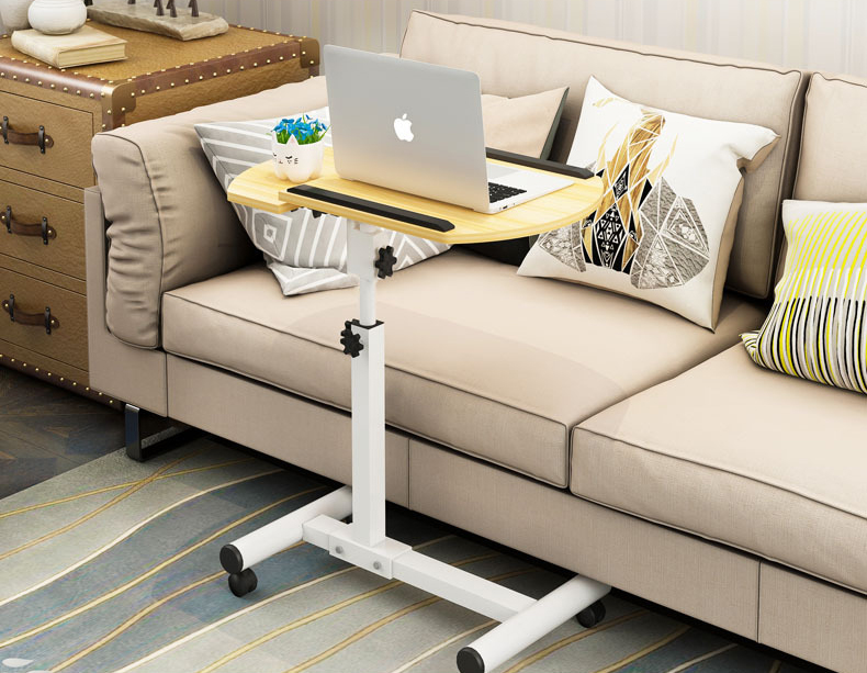 Foldable Laptop Stand with Rotating Wheels and Side Space for Keyboard and Mouse 16