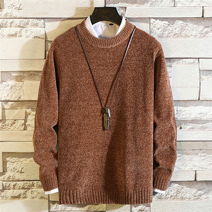 2019 New Man Knitwear Autumn Winter Fashion Brand Men Sweaters Pullovers Knitting Wool Warm Slim Fit Casual Knitted