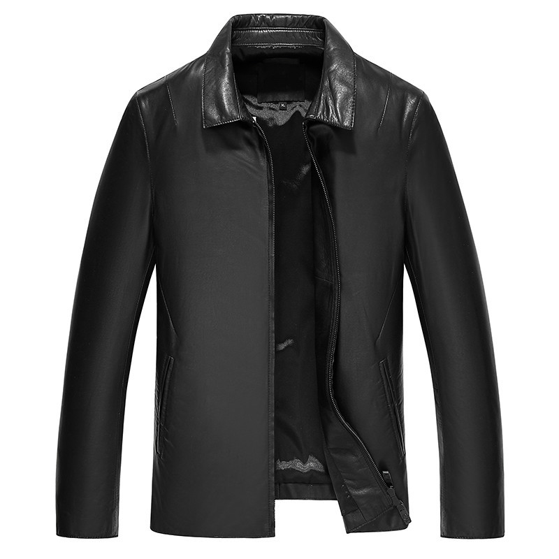 Genuine Leather Jacket Real Sheepskin Coat For Men Spring Autumn Jacket Men Streetwear Motorcycle Jackets JLK17KD17605 MY1767