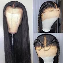 13*4 Кружева передние парики из натуральных волос на кружевной