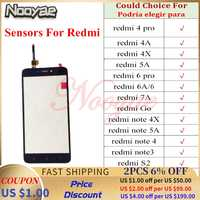 Para Redmi 5A/Note 5A Note5A/Note 4/Note 4x/4A Go A2 Lite pantalla táctil digitalizador Panel Sensor de vidrio pantalla táctil + pista
