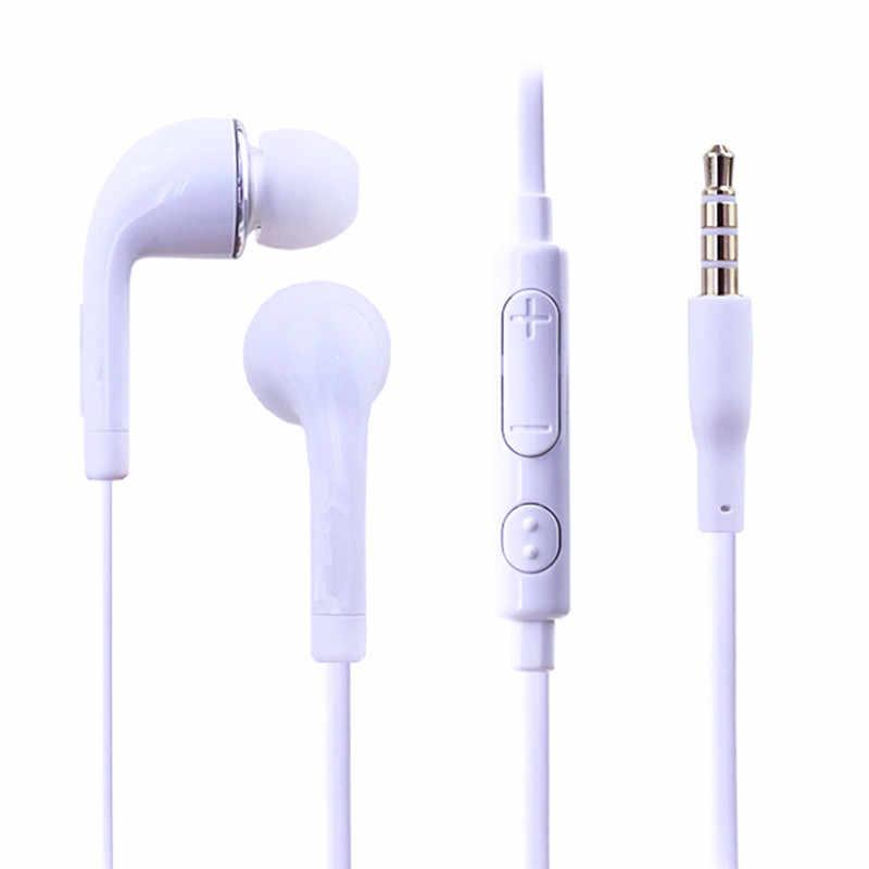 3.5 مللي متر جاك السلكية سماعة باس في الأذن سماعة رأس مزودة بميكروفون زر التحكم أندرويد الهاتف سماعات لسماعة سامسونج S4