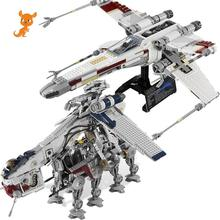 toys New Star Tie Fighter X Wing MicroFighters Wars AT Walker Building Blocks StarWars Lepining Toys 05053 10195 05039 10240 цена 2017