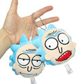 2 Styles 10CM New Rick And Morty Plush Keychain Toys Stuffed Cartoon Sanchez Doll Pendant Decoration Toys Gift for Girls