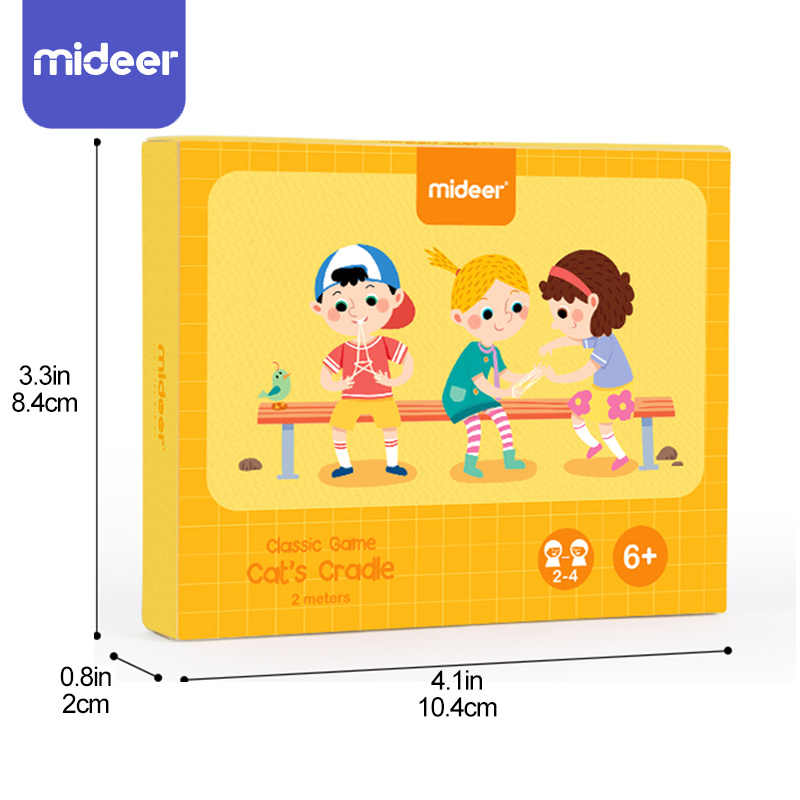 Stringa di Carte Da Gioco Set Montessori Materiali del Gatto Culla Per Bambini di Apprendimento Giocattoli Educativi Per I Bambini MiDeer Corda Mano Finger Gioco