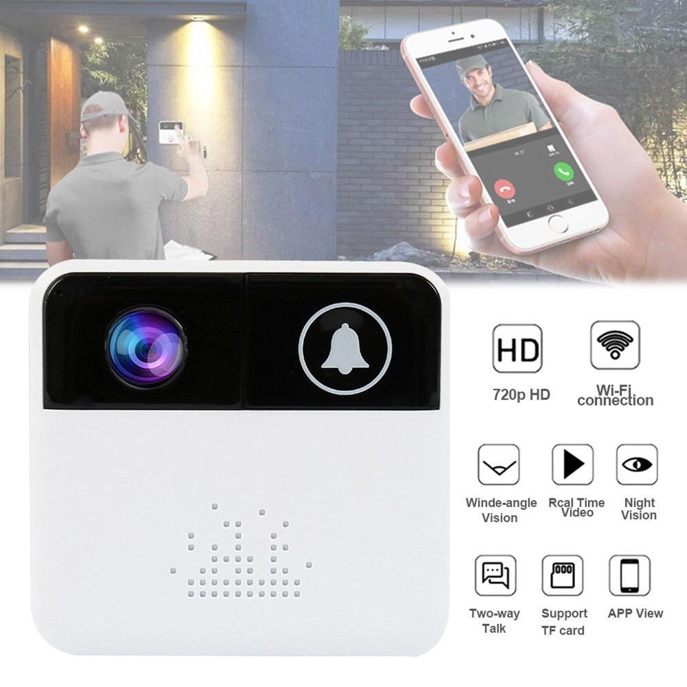 Wireless WiFi Smart Remote Video Door Camera Phone Doorbell Intercom IR Security Bell LHB99