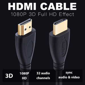 Shuliancable HDMI Cable High speed 1080P 3D gold plated cable hdmi for HDTV XBOX PS3 computer 0.3m 1m 1.5m 2m 3m 5m 7.5m 10m 15m
