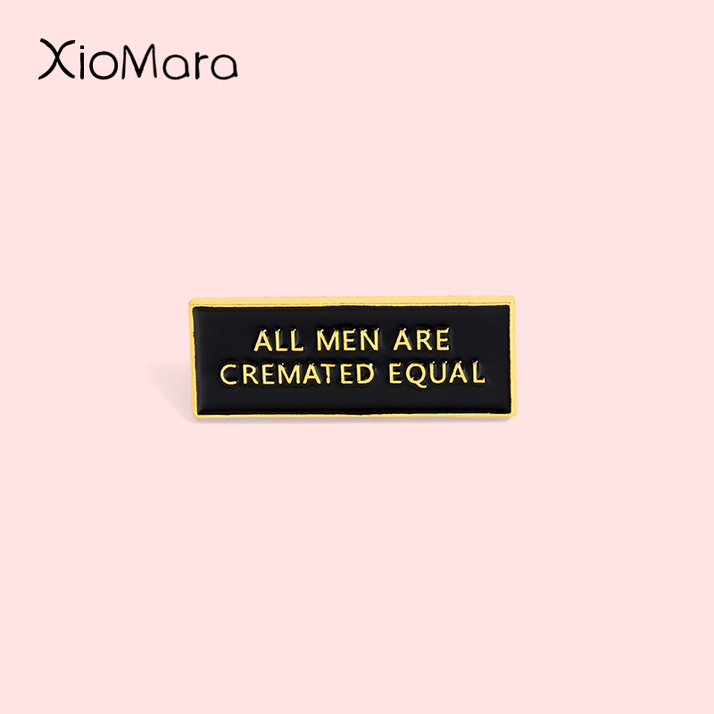 Śmieszne Cremator emalia szpilki Gothic Dark Tag cytat odznaka Equalily biżuteria broszki przypinka dla prezenty dla przyjaciół