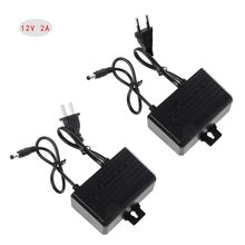 Power Supply AC DC Charger Adapter 12V 2A EU US Plug Waterproof Outdoor for Monitor CCTV CCD Security Camera 10166 europe standard universal black ac dc 12v 1000ma eu plug charger power adapter for cctv camera supply free shiping
