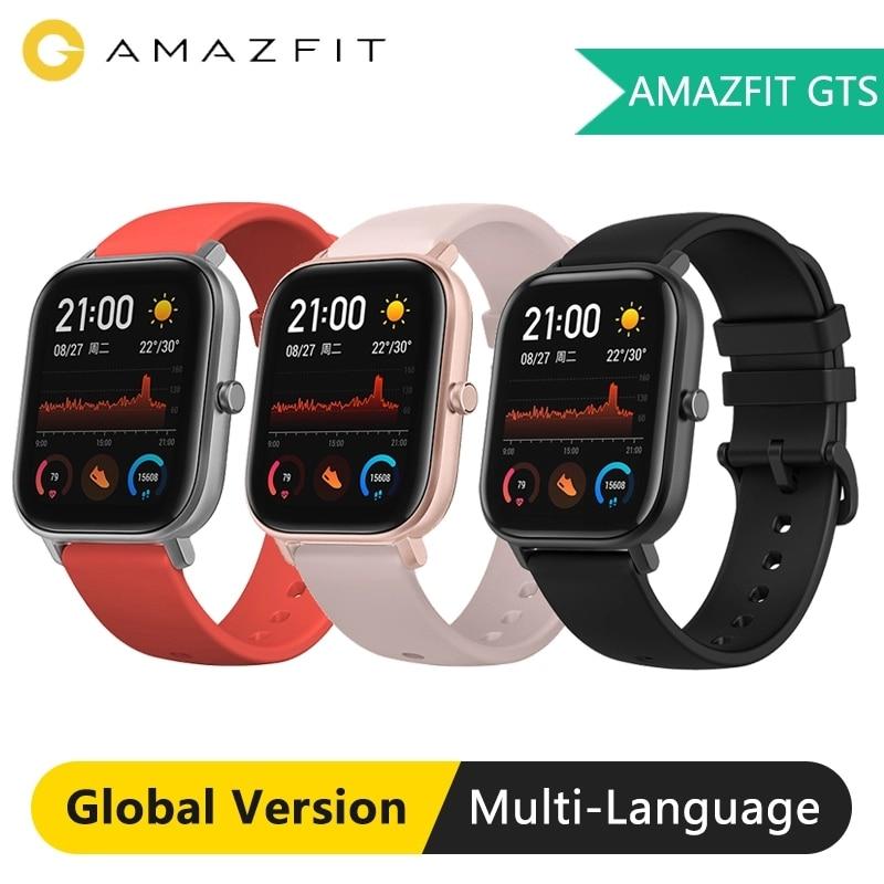 Huami Global Version Amazfit GTS Smart Watch GPS 5ATM Waterproof Smartwatch Health Heart Rate AMOLED 12 SportsSmart Watches   -