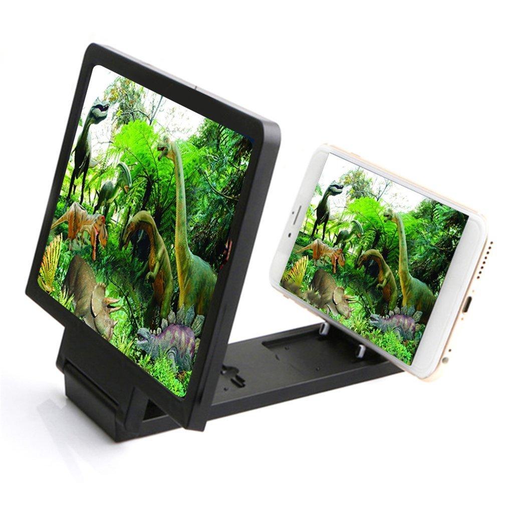 3D усилитель экрана Мобильный телефон увеличительное стекло HD Подставка для видео складной держатель для сотового телефона защита для глаз