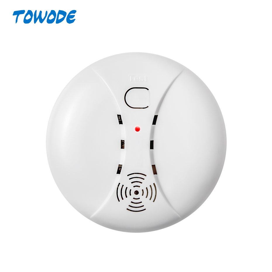 Towode 433MHz Portable Alarm Sensors Wireless Fire Smoke Detector For All Of Home Security Alarm System In Our Store