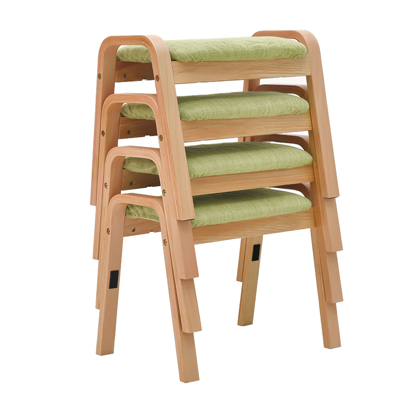 Household Stool Changing Shoes Stool Fashion Creative Living Room Simple Low Stool Sofa Footstool Solid Wooden Square Stool Adul