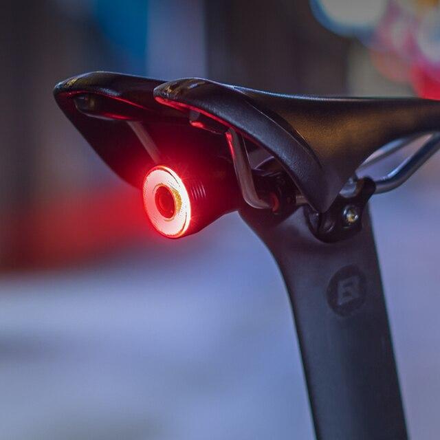 Rockbros bicicleta inteligente luz de detecção freio automático ipx6 à prova dwaterproof água led carregamento ciclismo luz traseira da bicicleta acessórios q5 6