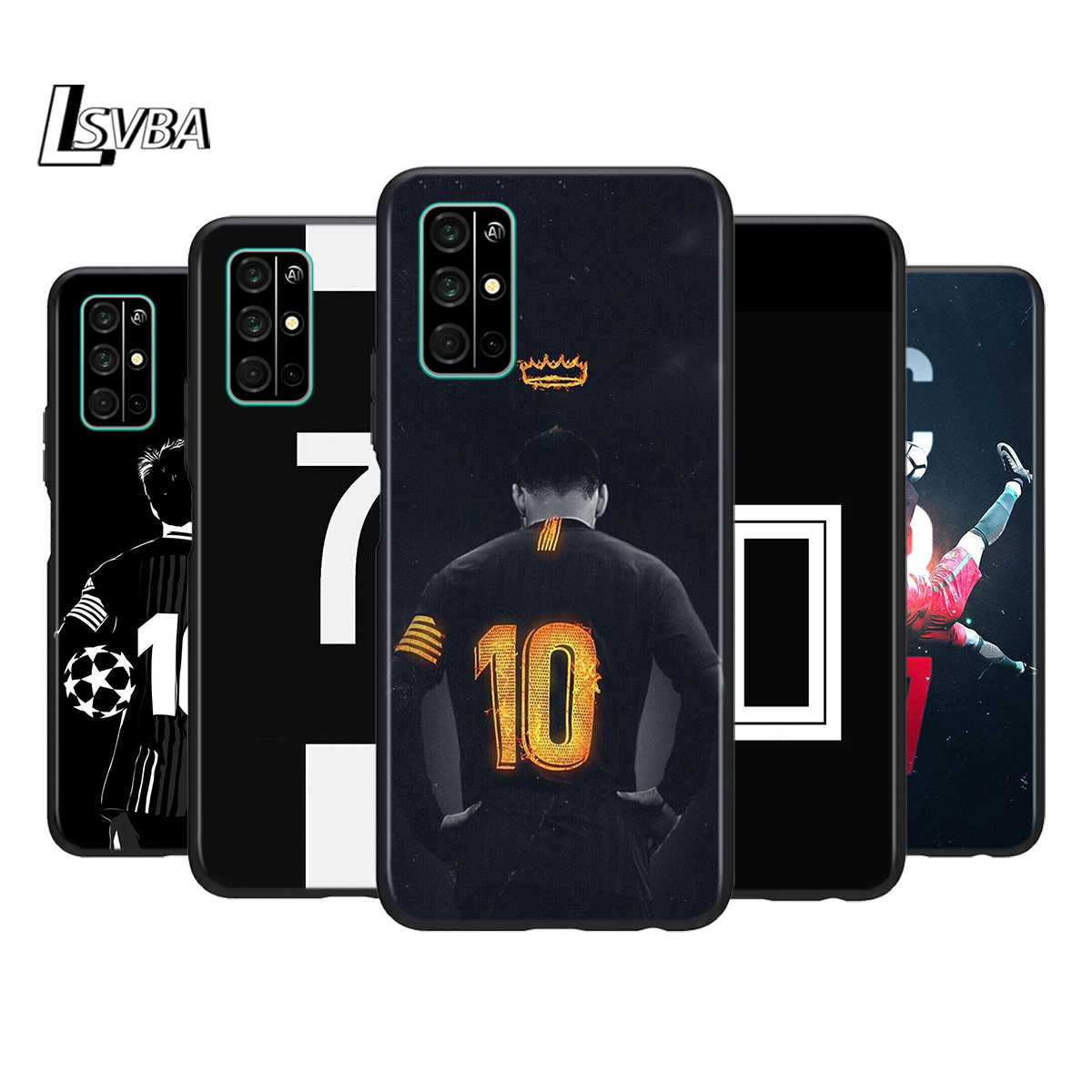 Silicone Cover Number 10 Football Phone Case for Huawei Honor 30 20 Pro 10i 9A 9S 9X 8X 10 9 Lite 8 8A 7A 7C Pro