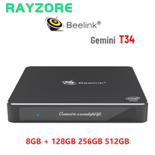 Beelink t34 mini computador windows 10 intel apollo lago celeron n3450 8gb ram 128gb 256gb 512gb ssd mini computador 2.4g5g wifi gaming pc
