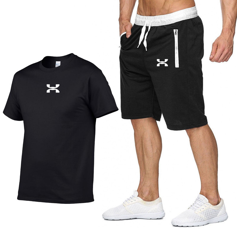2020 Men's Sets T Shirts+shorts Two Pieces Sets Casual Tracksuit Men/Women New Fashion Printing Suits Sportwear Gyms Trousers