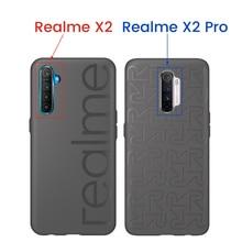 الغلاف الخلفي الرسمي 100% من OPPO Realme X2 Pro XT X2 الإصدار العالمي المصد المطاطي الناعم PU + مطاط البولي يوريثان