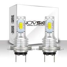NOVSIGHT H4 H7 H11 H8 H9 H16JP H1 H3 araba LED sis ampuller 9005 9006 oto sürüş sis lambaları 6500K 12V 24V LED araba farlar