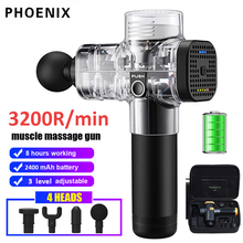 Phoenix A2 Muscle Massage Gun Vibrating Deep Therapy Relaxation Fascia Fitness Exercise Pain Relief Electric Massager