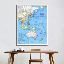 A2 Size Fine Canvas Vinyl Painting HD Printed Wall Art Map of Asia Pacific 1989 Edition Home Living Room Wall Decor pablo picasso woman with a book canvas painting print living room home decor modern wall art oil painting poster salon pictures