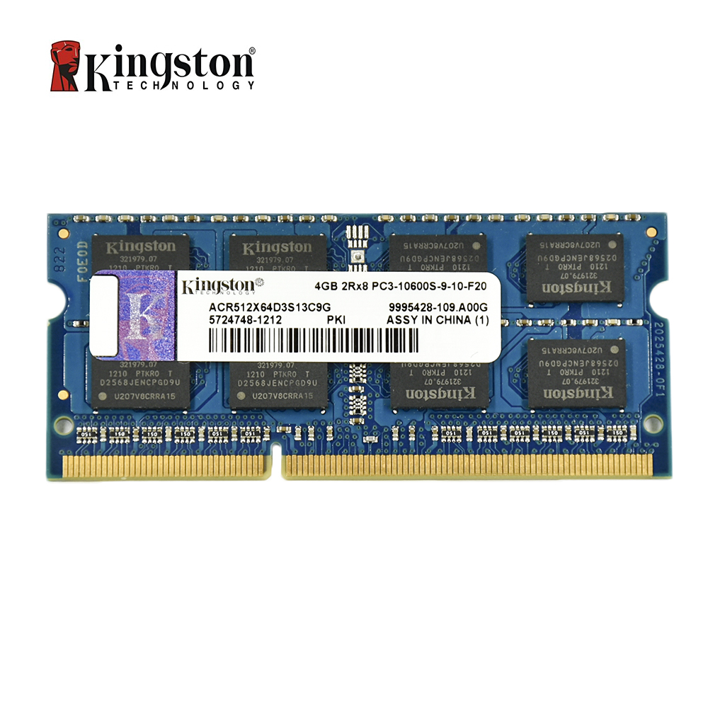 Kingston Memory Ram Ddr3 2G 4GB 8 GB 1333MHZ PC3L-10600S 1600MHZ 12800S DDR3 8 GB 204pin 1,5 V Portable SODIMM Ram For Notebook