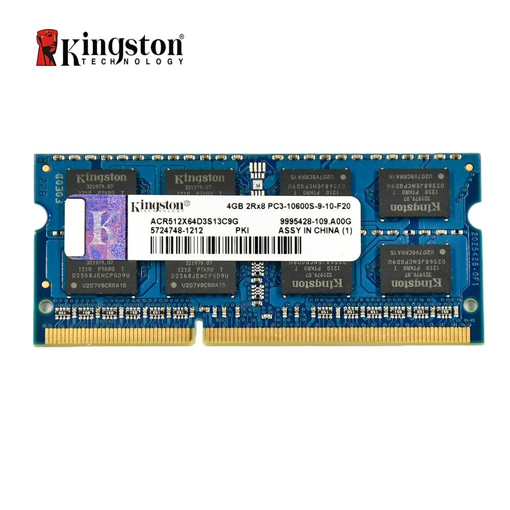 Kingston Memory Ram Ddr3 2G 4GB 8 GB 1333MHZ PC3L-10600S 1600MHZ 12800S DDR3 8 GB 204pin 1,5 V Portable SODIMM Ram For Notebook