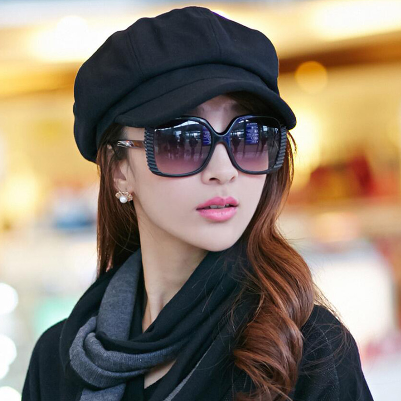 Newsboy Caps New Arrive Women Newsboy Gatsby Cap Octagonal Baker Peaked Beret Driving Hat Female Sunscreen